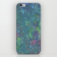 Blue And Green Abstract … iPhone & iPod Skin