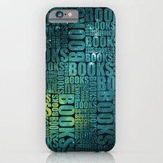 Books Type - Green Galaxy Slim Case iPhone 6s