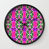 Neon Vibrations Wall Clock