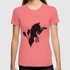 down Womens Fitted Tee Pomegranate SMALL