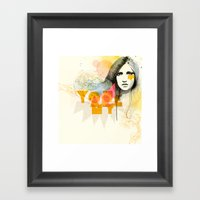 Nothing Expect Your Eyes Framed Art Print