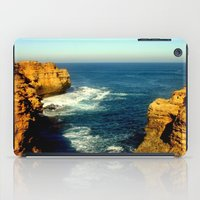 As the sunsets over the Limestone Cliffs iPad Case
