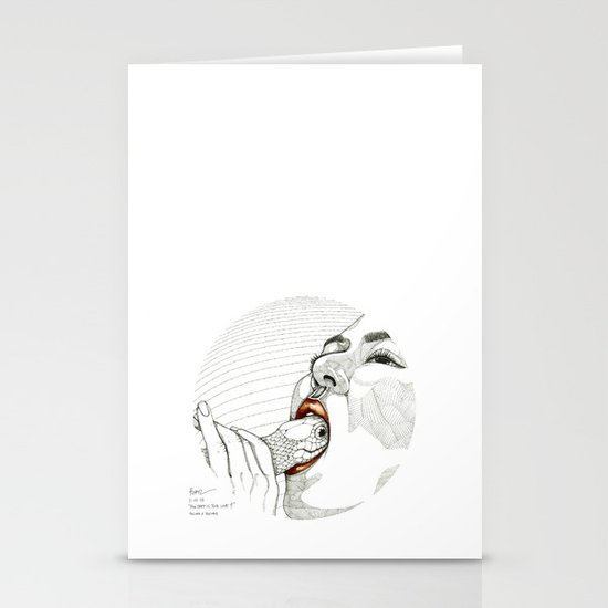 How deep is your love? Stationery Card