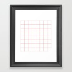 grid Framed Art Print