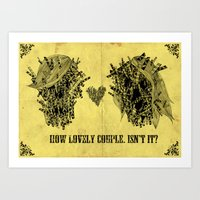 lovely couple Art Print