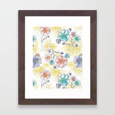 Brilliant Blooms Framed Art Print