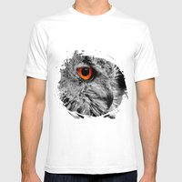 ORANGE OF MY EYE Mens Fitted Tee White SMALL