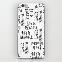 Life is Beautiful (white) iPhone & iPod Skin