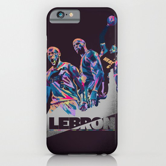 Lebron James NBA Illustration serie 3 of 3 iPhone & iPod Case