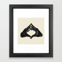 Clutch Brake Vrooom light Framed Art Print