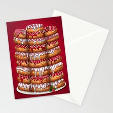 Donuts IV 'Merry Christmas' Stationery Cards
