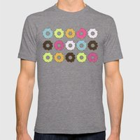 Donuts Mens Fitted Tee Tri-Grey SMALL