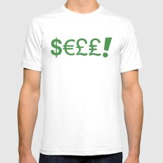 Subliminal Currency White Mens Fitted Tee SMALL