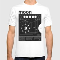 Phases of the Moon infographic Mens Fitted Tee White SMALL