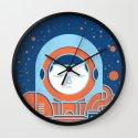 Orange Space Wall Clock