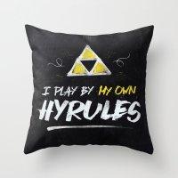 Legend Of Zelda Inspired… Throw Pillow