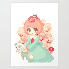 pixel cakeroll Art Print
