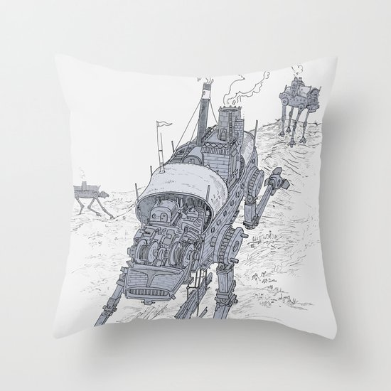 an even longer time ago Throw Pillow
