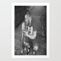 lou and daddy Art Print