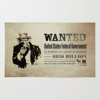 Wanted Poster Rug