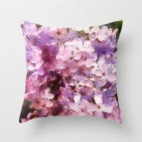 lilac season is my favorite  Throw Pillow