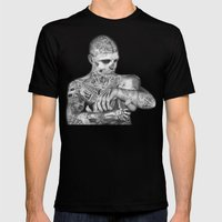 ZOMBIE BOY Mens Fitted Tee Black SMALL