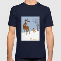 Bambi Mens Fitted Tee Navy SMALL