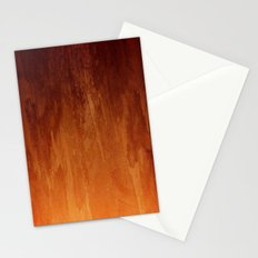 Orange Fire Watercolor Abstract Stationery Cards