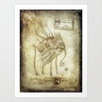 Bestiary 08 Art Print