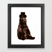 Bear in Hat Framed Art Print
