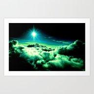 Midnight Clouds Art Print