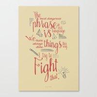 Grace Hopper Sentence - … Canvas Print