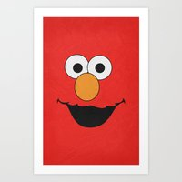 Elmo - Minimalist Poster 01 Art Print