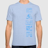 Gamer  Mens Fitted Tee Tri-Blue SMALL
