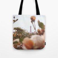 Flowers grow in Paris Tote Bag