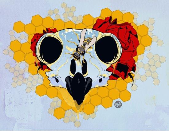 Honey Panel Art Print