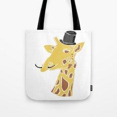 Gentleman Giraffe Tote Bag