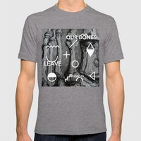 Our bones leave messages Mens Fitted Tee Tri-Grey SMALL