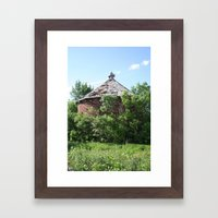 Brick Corn Crib Framed Art Print
