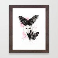Bat Pig Framed Art Print