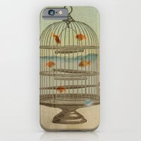 iPhone & iPod Case featuring flying fish by vin zzep
