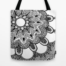Black and White Doodle 2 Tote Bag