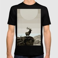 Dusk Mens Fitted Tee Black SMALL