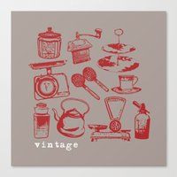 kitchen vintage Canvas Print