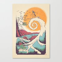 Surf Before Christmas Canvas Print