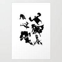 The Avengers Minimal Bla… Art Print