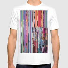 COLLAGE9 White Mens Fitted Tee SMALL