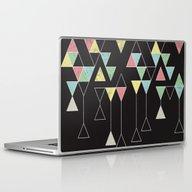 Laptop & iPad Skin featuring Dark Triangles III by Metron
