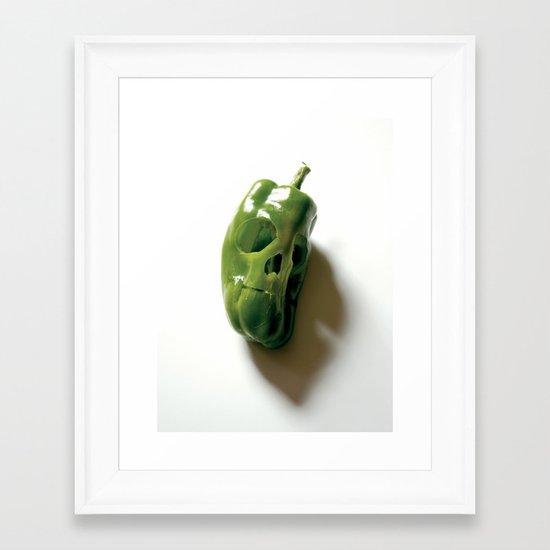 87. Bell Pepper Skull Framed Art Print