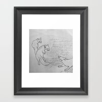 Little Drawing II Framed Art Print